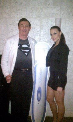 chanel preston on a dinner cruise with superman