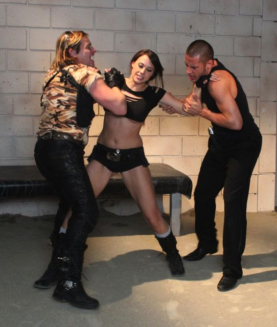 Evan Stone, Chanel Preston, and Danny Mountain in Tomb Raider XXX