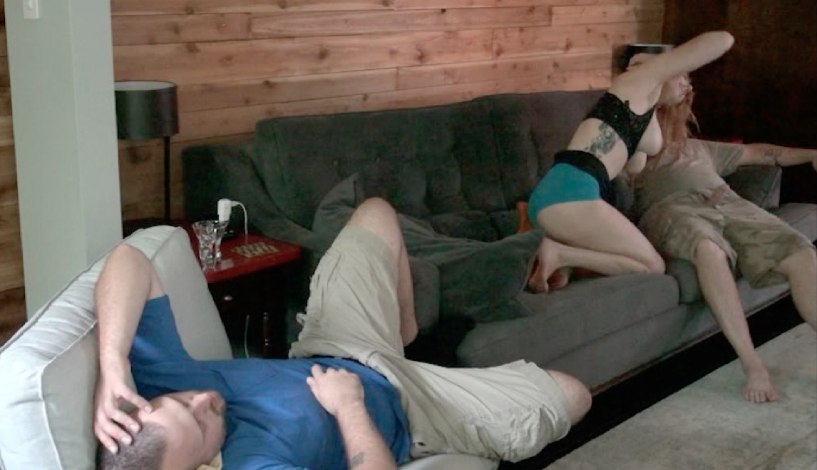 ... legs and they continue fucking while the husband sleeps and the camera  lady continues shooting. She then wakes up her husband tells him he fell  asleep.