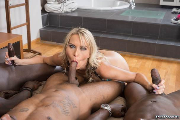 The chocolate milf cums again