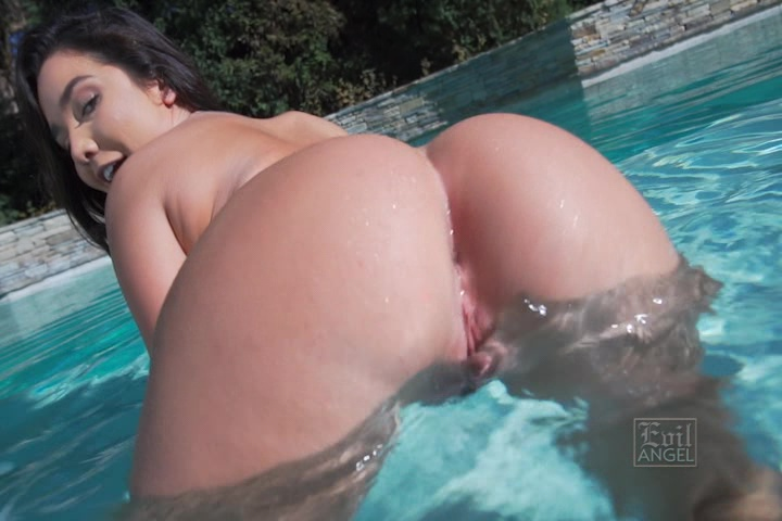 Amazing brunette with great body dances 5