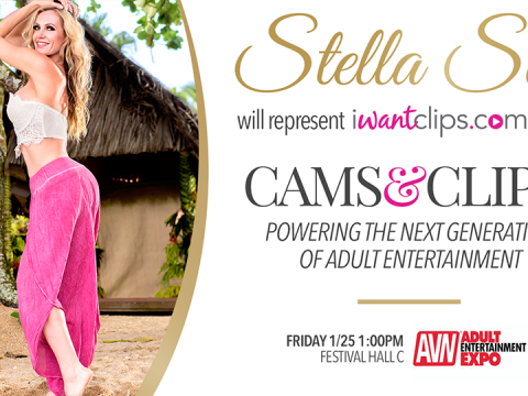 iWantClips - Stella Sol - AVN Expo Panel